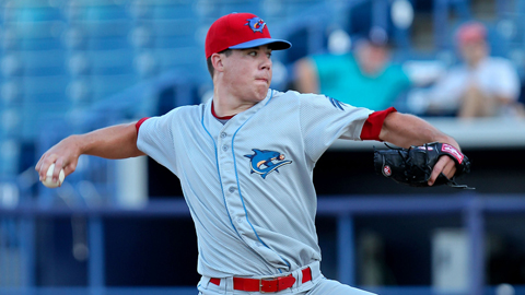 Trevor May leads the Florida State League with 102 strikeouts in 78 innings.